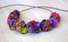 Big Handmade BrassFiber Bead for Artisan Jewelry by jimenasjewelry