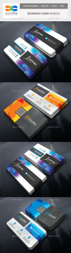 Business Card Bundle  — PSD Template #print template #offer • Download ➝ https://graphicriver.net/item/business-card-bundle/18532023?ref=pxcr