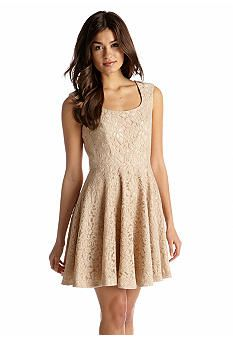Jessica Simpson Sleeveless Fit and Flare Dress