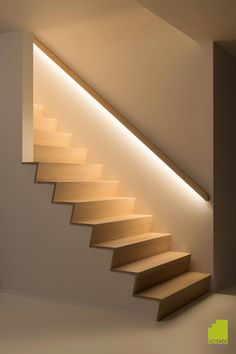 Basement Stairs Diy Staircase Remodel Stairways 34 Ideas For 2019 - Modern Staircase Lighting Ideas, Stairway Lighting, Basement Stairs, House Stairs, Basement Ideas, Basement Ceilings, Modern Basement, Loft Stairs, Walkout Basement