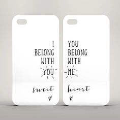 A set of two stylish iPhone cases perfect for Lumineers fans. The perfect gift for your other half or any loving couple.Please specify when ordering if you require a case for an iPhone 4/4S, 5/5S, 5C or 6.Cases are available in black (or white on an iPhone 5C) and come with black text on a white background. As these cases are made to order we can change the text or background to any colour combination you require, just send a note through when you place your order. Please specify when…
