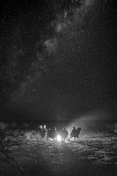 ✔ Beach + Bonfire