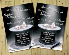 MAGIC TRICK Invitation  DIY Printable Magician by PiggyBankParties, $15.00