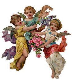 Skrot - Victorian Die Cut - Victorian Scrap - Tube Victorienne - Glansbilleder - Plaatjes: Angel - angel - vara