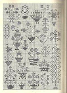 folk motifs - It Was A Work of Craft Cross Stitch Sampler Patterns, Cross Stitch Freebies, Embroidery Sampler, Vintage Cross Stitches, Cross Stitch Borders, Cross Stitch Samplers, Cross Stitch Flowers, Cross Stitch Charts, Cross Stitch Designs