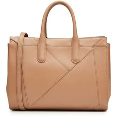 Max Mara Leather Tote (6337890 PYG) ❤ liked on Polyvore featuring bags, handbags, tote bags, beige, handbag tote, leather handbag tote, leather totes, structured tote and beige leather handbags