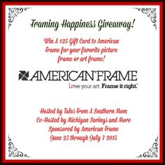 Amy and Aron's Real Life Reviews: Framing Happiness Giveaway
