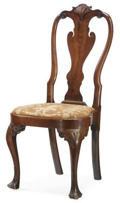 A Very Fine Queen Anne Carved and Figured Walnut Rounded-Stile Compass-Seat Side Chair, possibly by the Henry Cliffton and Thomas Carteret shop, Philadelphia, Pennsylvania, circa 1760. Sotheby's