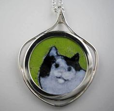 Black and White Cat Pendant Cat Jewelry, Animal Jewelry, Cat Pose, Antique Coins, Cat Ring, Silver Cat, Black And White, Pendant, Cats