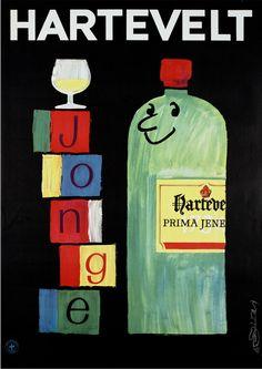 Poster by Mettes, ca.1967, Hartevelt jonge (alcool). (Dutch)