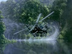 Not a fan of most military tech these days, but this is a beautiful shot of an Apache helicopter