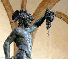 Persus slaying the gorgon, Medusa -- by Cellini