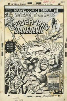Marvel Team-Up #25 Cover by Gil Kane Comic Art
