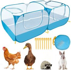 The bottom of the pet playpen can be removed, so that the small animals are closer to nature when used outdoors. The removable bottom can be used as a sunshade cover on the top of the cage to provide additional sun protection.