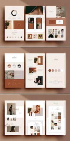24 Brand Sheets Template based on Modern and Minimalist Graphic Design