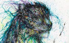 Jaw Dropping Splattered Ink Animal Portraits by Hua Tunan