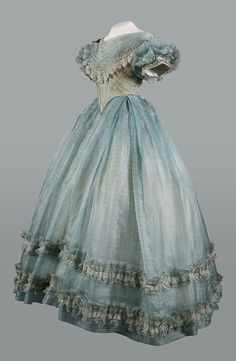 Blue-grey dress // Mid 19th century