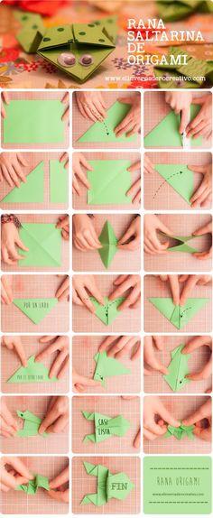 Tutorial: Ranas saltarinas origami.
