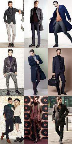 Men's Heritage Knits Stylish Mens Fashion, Stylish Mens Outfits, Business Casual Outfits, Men's Fashion, Mens Double Breasted Blazer, Mens Roll Neck, Blazer Outfits Men, Outfit Grid, Poses