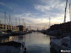 Il Porto Antico di #Genova con le prime luci del tramonto, #liguria