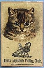 Victorian Trade Card - Marks Adjustable Chairs