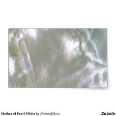 Mother of Pearl-White Rectangular Sticker