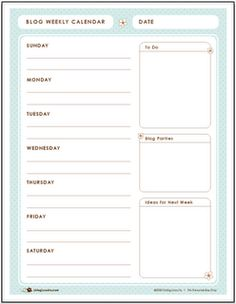 Several styles to choose from, all printable blogger planners