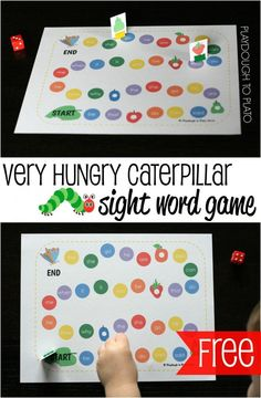 *FREE* The Very Hungry Caterpillar Sight Word Game