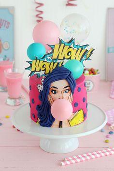 Tarta pin up_my karamelli Easy Cake Decorating, Cake Decorating Techniques, Cake Decorating Tutorials, Beautiful Birthday Cakes, Beautiful Cakes, Amazing Cakes, Sweet Cakes, Cute Cakes, Yummy Cakes