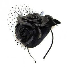 polka netted headband