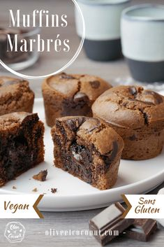 Marbled muffins, melting heart {vegan, gluten free} – Olive and … – About Healthy Desserts Sans Gluten Vegan, Gluten Free Crepes, Vegan Gluten Free Desserts, Gluten Free Donuts, Gluten Free Brownies, Gluten Free Chocolate, Easy Desserts, Healthy Vegan Dessert, Vegan Recipes Easy Healthy
