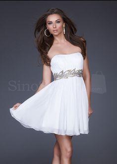 Cute white dress with silver diamond belt!