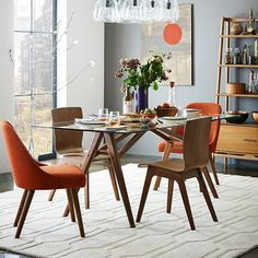 West Elm Crest Bentwood Dining Chair E C Pinterest Glass - West elm glass top dining table