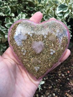 Orgonite Heart charging and clearing plate - for healing, reiki, protection, emf protection, spiritual development, magic by OdysseyOrgoniteShop on Etsy