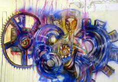 freehand graffiti spray can art