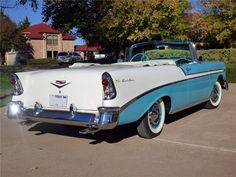 1956 CHEVROLET BEL AIR CONVERTIBLE - Rear 3/4 - 116377