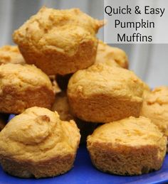 2 Ingredients for Quick and easy  pumpkin muffins