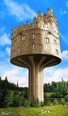 buildings 01 Castle in the air--this will be the grandchilds tree house someday.:)Castle in the air--this will be the grandchilds tree house someday. Unusual Buildings, Interesting Buildings, Amazing Buildings, Amazing Houses, Architecture Cool, Classical Architecture, Crazy Houses, Weird Houses, Famous Castles
