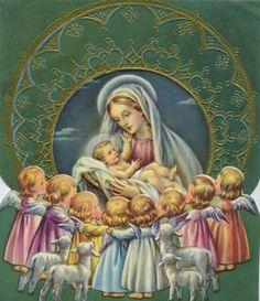 El nacimiento de Dios Hijo y Maria, Reina de todos los Ángeles.