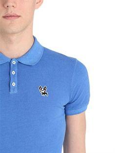 dsquared2 - men - polos - ciro cotton cotton pique polo shirt Pique Polo  Shirt 07cae95981c9
