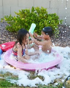 Host a back to school bubble party with activities for every school subject. Use Palmolive soap for creative bubble party activities. Play Pool, Kiddie Pool, Bubble Party, School Subjects, Party Activities, Back To School, Bubbles, Dish, Bloom