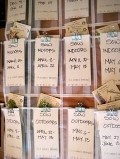 Five Ways to Creatively Organize Seed Packets- Botanical Interests