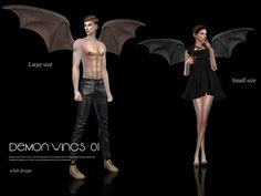 Devil wings 01 by S-Club LL at TSR via Sims 4 Updates