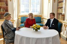 King Willem-Alexander and Queen Maxima State visits Denmark- Meeting with the Prime Minister 3/16/2015