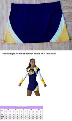 e488643d8ba Cheerleading 66832  Adult Xxl Xxxl Real Navy Blue Stretch Cheerleader  Uniform Mini Skirt 36-40 New -  BUY IT NOW ONLY   12.99 on eBay!