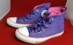 1242f1bb6fe7 Converse All Star Pink and Purple high tops size 5 Converse Sneakers