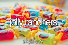 jolly ranchers = my favorite candy :) Best Candy, Favorite Candy, Penny Candy, Jolly Rancher, Just Girly Things, Reasons To Smile, Nom Nom, Sweet Tooth, Sweet Treats