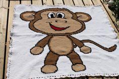 monkey 1 afghan graph pattern pattern on Craftsy.com