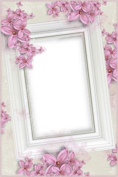 Delicate White Transparent Frame with Pink Flowers Flower Background Wallpaper, Party Background, Frame Background, Flower Backgrounds, Picture Borders, Boarders And Frames, Printable Frames, Birthday Frames, Christmas Frames