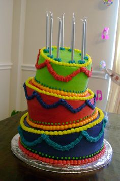 Topsy-Turvy birthday cake - This is my first try with a topsy-turvy cake.  The cake is all chocolate  with buttercream icing.  It was for my granddaughter's 10th (disco) birthday party and she greatly approved, so I call it a success!